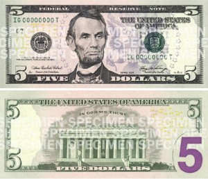 [image of new $5 bill]